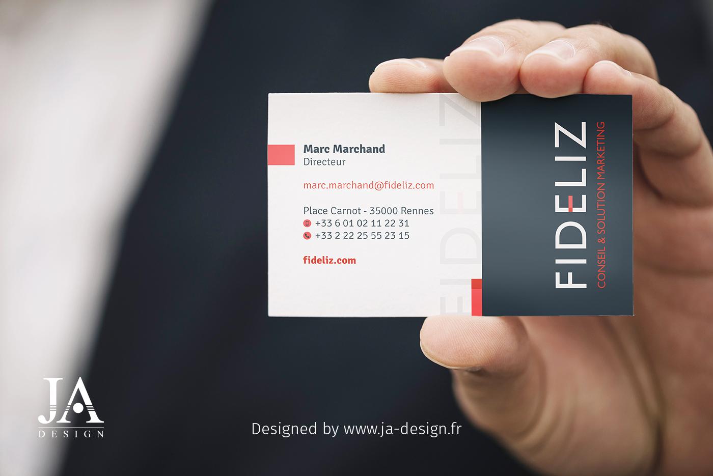 Carte De Visite Et Logo Fideliz