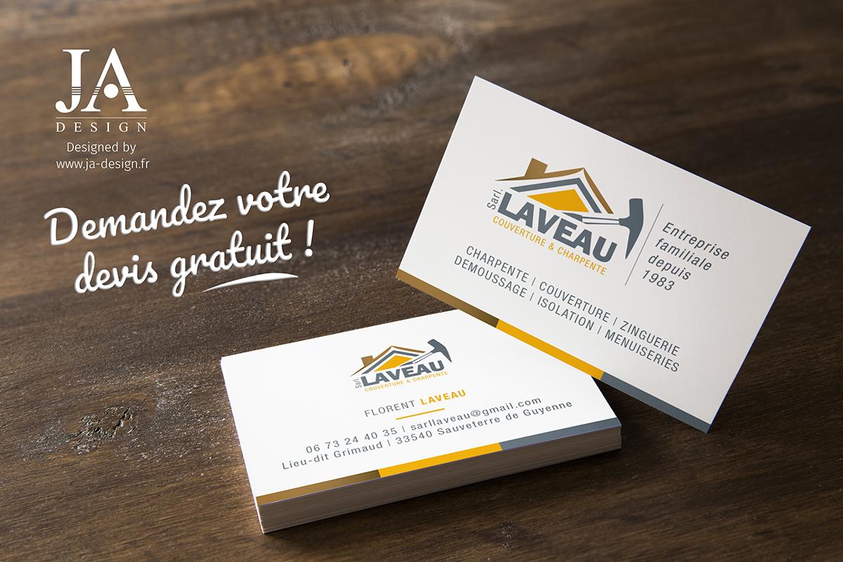 CrCation Du Logo Et De La Carte Visite Lentreprise LAVEAU